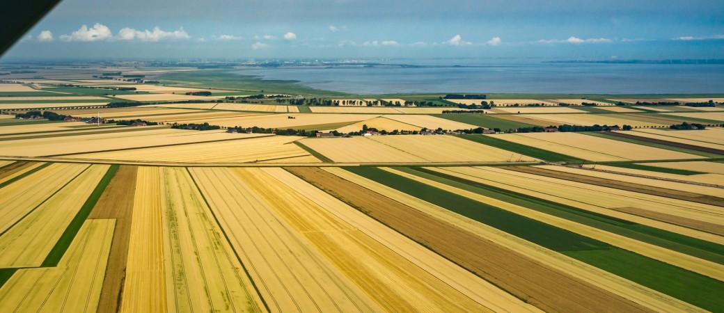 Die Rheiderländer Ackermarsch von oben